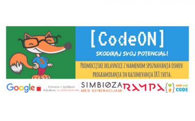 CodeOn – skodiraj svoj potencial! – 4 različne brezplačne delavnice