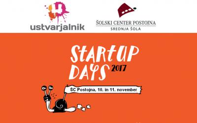 Startup Days 2017 – podjetniški vikend na ŠC Postojna