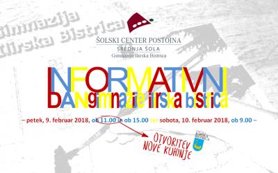 Informativni dan Gimnazije Ilirska Bistrica