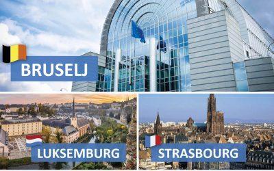Strokovna ekskurzija v BRUSELJ, LUKSEMBURG, STRASBOURG, BRUGGE, COLMAR in RIQUEWIHR za zainteresirane dijake 2. A/IB, 3. A/IB in 3. R/IB