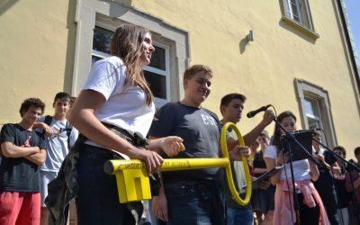 Svečani sprejem dijakov/inj 1. letnika Gimnazije Ilirska Bistrica