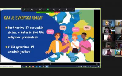 Webinar Hiše EU s predstavitvijo EU za 3. letnik gimnazije (projekt EPAS)