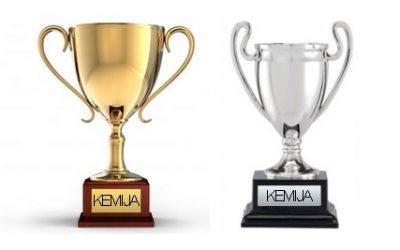 Zlata in srebrna Preglova plaketa na državnem tekmovanju iz znanja kemije