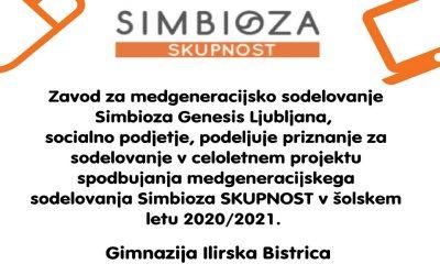 Gimnazija Ilirska Bistrica že osmo leto zapored gradi Simbioza SKUPNOST